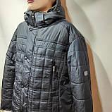 62 р. Чоловіча куртка зимова (Великі розміри) тепла на кашемире з капюшоном чорна Останнє залишилося, фото 4