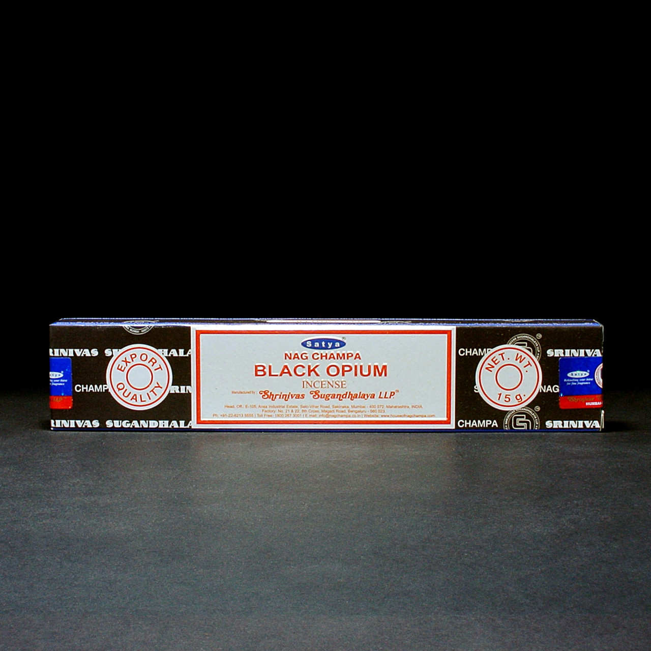 Натуральні пилкові пахощі Black Opium (Чорний Опіум) від Satya (Сатья) 15 г