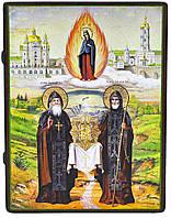 Икона «Преподобные Иов и Амфилохий Почаевские»