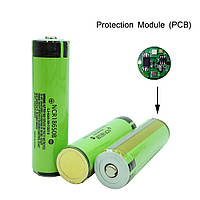 Защищенный Аккумулятор PANASONIC NCR18650B (MH12210) 3400mAh + PCB Плата защиты, 8A, Li-Ion, Japan, PROTECTED