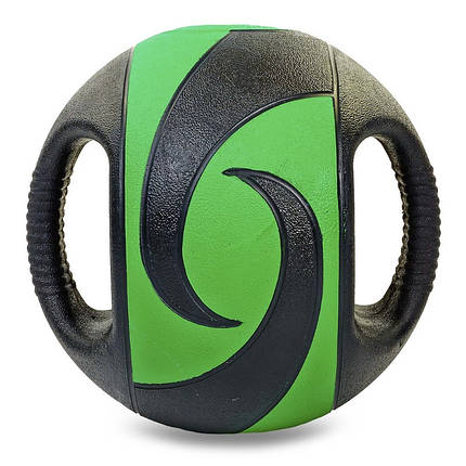 Мяч медицинский медбол с двумя рукоятками Record Medicine Ball FI-5111-7 7кг (резина, d-27,5см,, фото 2