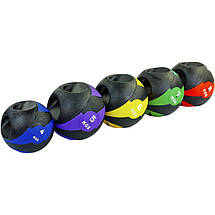 Мяч медицинский медбол с двумя рукоятками Record Medicine Ball FI-5111-7 7кг (резина, d-27,5см,, фото 3