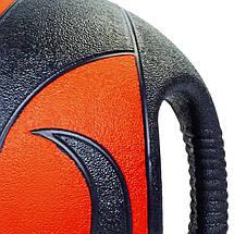 Мяч медицинский медбол с двумя рукоятками Record Medicine Ball FI-5111-8 8кг (резина, d-27,5см,, фото 2