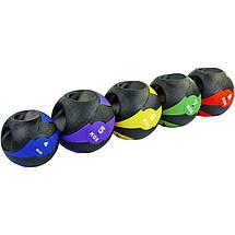 Мяч медицинский медбол с двумя рукоятками Record Medicine Ball FI-5111-8 8кг (резина, d-27,5см,, фото 3