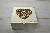 Деревянная коробка для упаковки. Подарочная коробка.Сердце.