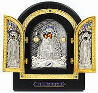 Ікона-складень Божої Матері «Почаївська» (сереб.), фото 1