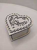 Коробка для упаковки в форме сердца. Шкатулка сердце. ДВП