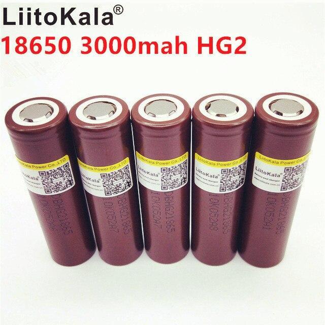 Высокотоковый Аккумулятор LiitoKala HG2 18650 3000mAh 30A Li-Ion (вэйп, шуруповерт, фонарь и др.)