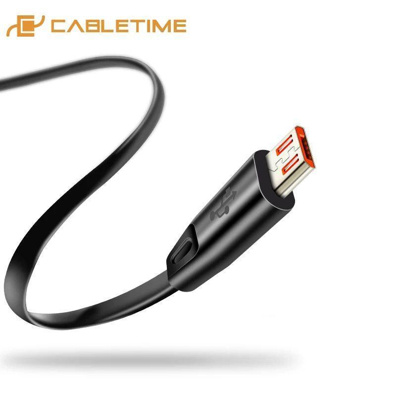 Кабель USB - micro USB для быстрой зарядки. Кабель 1 м. Cabletime