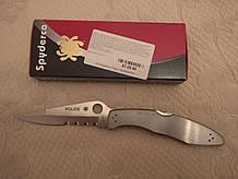 Складной нож  SPYDERCO POLICE STAINLESS STEEL C07P, полусеррейтор