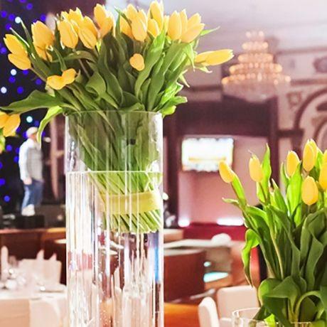 Цилиндрическая ваза VIAL MAZHURA 38 см, ваза цилиндр