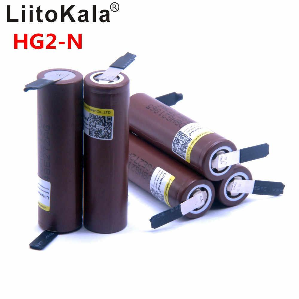 Оригинальный Высокотоковый Аккумулятор LiitoKala HG2-N 18650 3000mAh 30A Li-Ion с лепестками под пайку