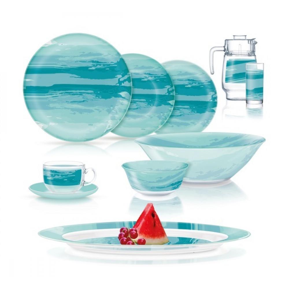 """Сервіз столовий скло 46предм. """"Luminarc. Simply Seascape"""" Q3723/49073"""