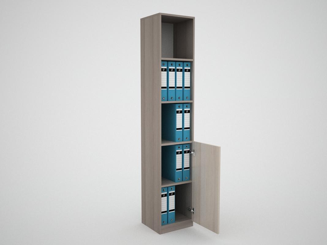 Офисный пенал стеллаж для документов прямой FlashNika / ФлешНика Бизнес ШБ-17