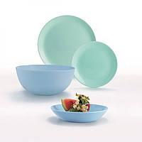 """Сервіз столовий скло 19предм. """"Luminarc.Diwali Light Turquoise&Blue"""" P4359/50355"""