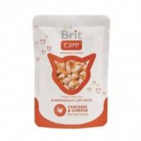 Brit Care Cat Chicken and Cheese Pouch паучи для взрослых кошек с курицей и сыром, 80г