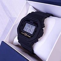 Спортивные часы мужские кварцевые электронные черные влагозащита 5 Bar с подсветкой Skmei 1628
