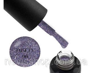 Гель-лак Oxxi Professional Disco 006, кольоровий мікс блискіток і шимерів  бузковий , 10 мл