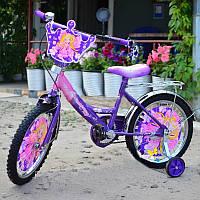 """Детский велосипед Azimut ПРИНЦЕССА 18"""" дюймов с корзинкой, фото 1"""