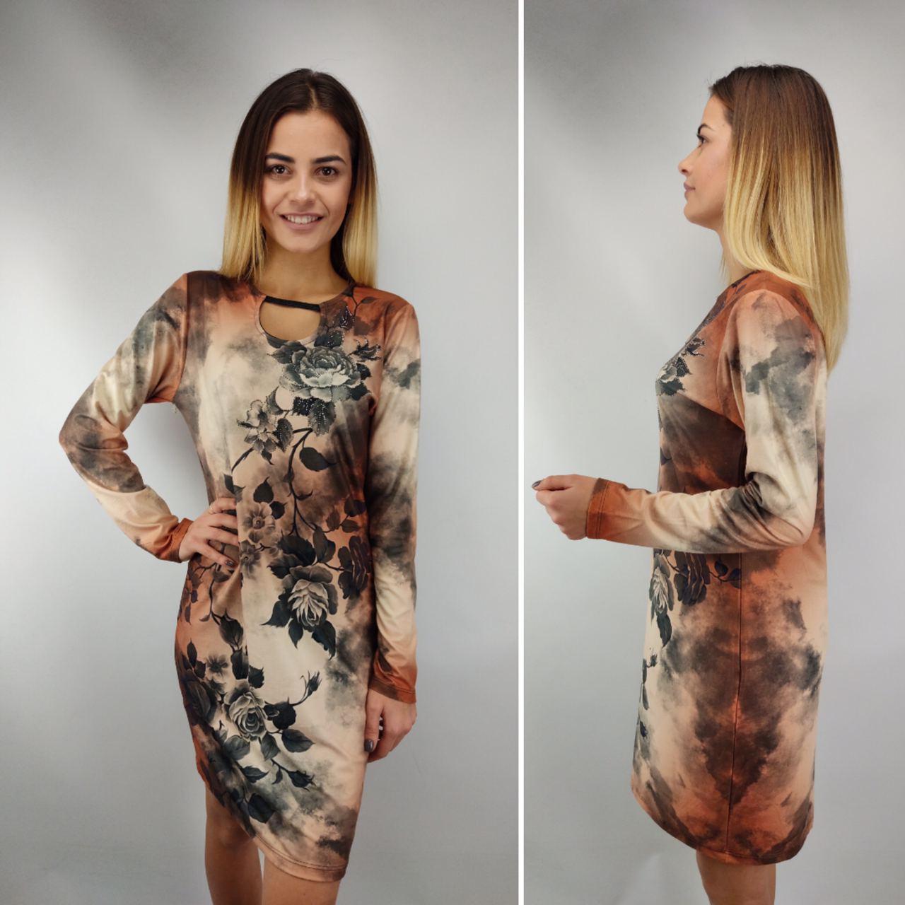 Платье женское кашемир NOMI270, универсальный 46-52рр