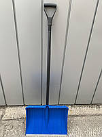 Лопата снеговая синяя Польша MaaN c алюминевой черной ручкой