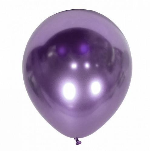 """Воздушные латексные шары """"Хром""""12""""(30см) Purple В упак:50 шт. Пр-во:""""Kalisan"""" Турция"""