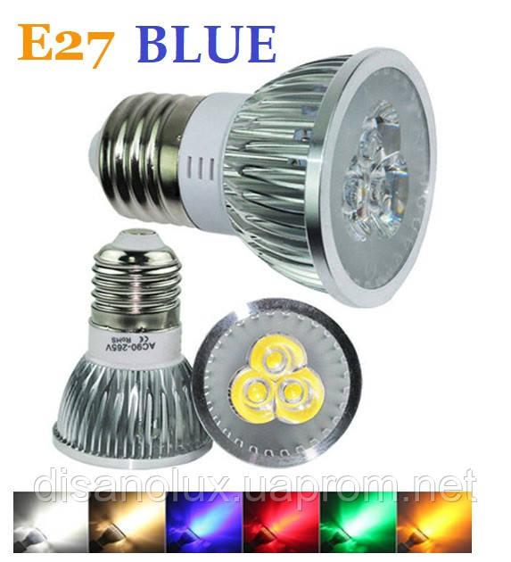 Світлодіодна лампа RP11-01 LED 3W Blue E27 220V