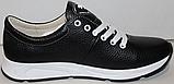 Кроссовки черные женские кожаные малыши от производителя модель ДР109М, фото 2