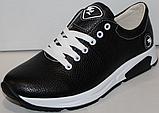 Кроссовки черные женские кожаные малыши от производителя модель ДР109М, фото 3