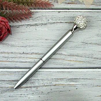 Шариковая Ручка со стразами Серебро Чернила черные