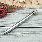 Шариковая Ручка со стразами Серебро Чернила черные, фото 2