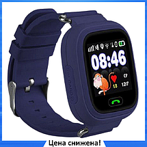 Дитячі Розумні годинник з GPS Smart baby watch Q90 Темно-сині, Дитячі смарт годинник-телефон з трекером і, фото 2