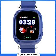 Дитячі Розумні годинник з GPS Smart baby watch Q90 Темно-сині, Дитячі смарт годинник-телефон з трекером і, фото 3
