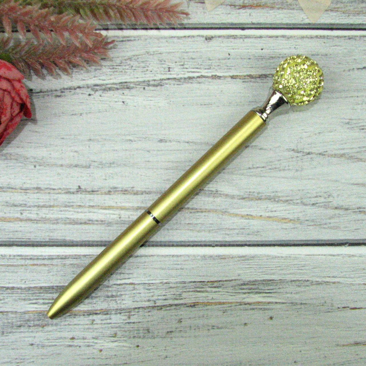 Шариковая Ручка со стразами Золото Чернила черные