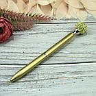 Шариковая Ручка со стразами Золото Чернила черные, фото 2