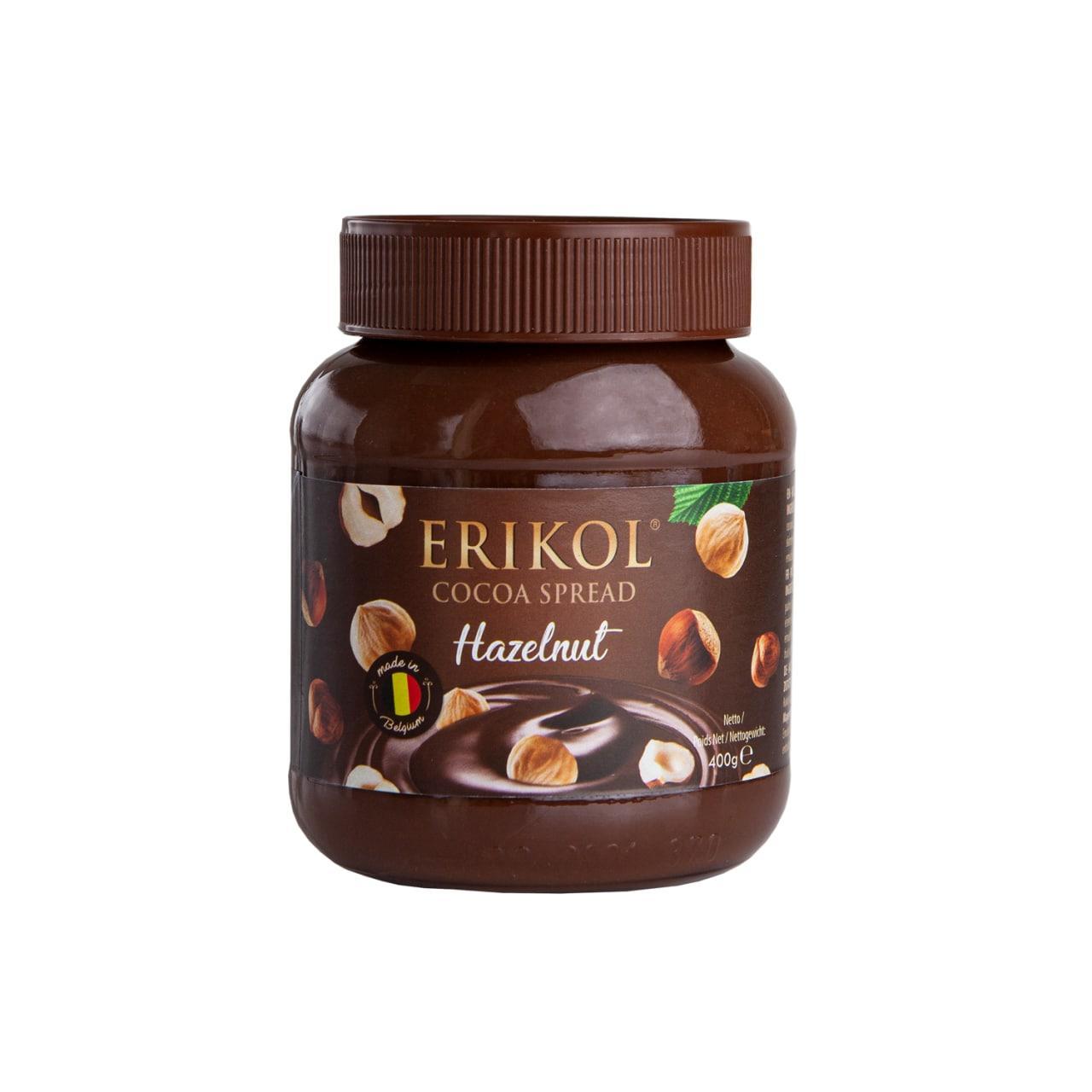Шоколадна паста Ericol з фундуком Cocoa Spread Hazelnut 400 г