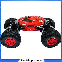 Машинка перевертыш на радиоуправлении Dance Monster RQ-2028 - трюковый вездеход, трансформер 40 см Красная, фото 2