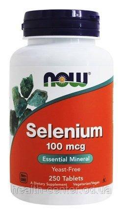 Селен хелат 250 таб 100 мкг онкопротектор защита от рака для иммунитета противовирусное Now Foods USA