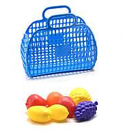 Кошик з фруктами синій KW-04-463