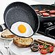 Сковорода з кришкою EDENBERG 28 см EB-4136 гранітне покриття, фото 6