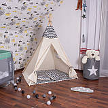 Детская палатка (вигвам) Springos Tipi XXL TIP02 White/Black, фото 4