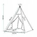 Детская палатка (вигвам) Springos Tipi XXL TIP02 White/Black, фото 9