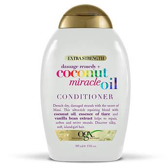 Восстанавливающий кондиционер с кокосовым маслом OGX Extra Strength Coconut Miracle Oil Conditioner 385 мл