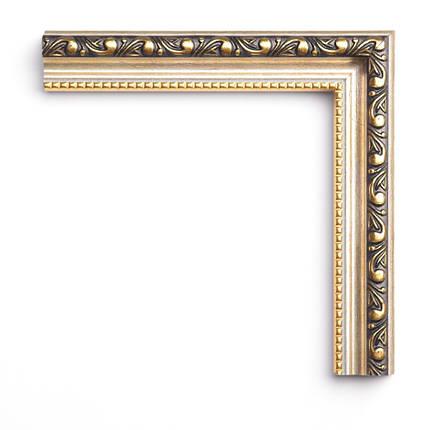 Настенное зеркало БЦ Стол Жасмин прямоугольное B05 золотое, фото 2