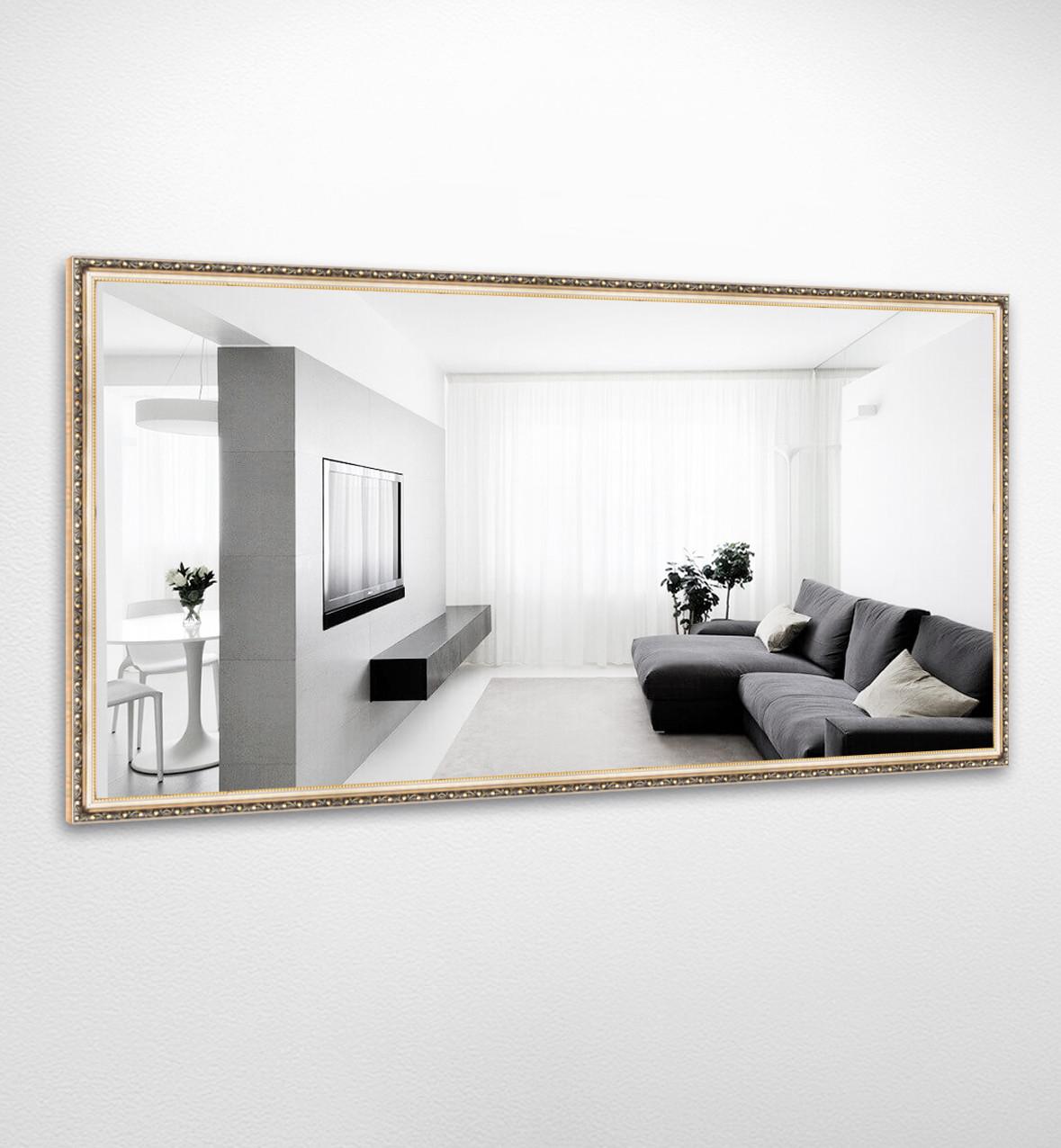 Настенное зеркало БЦ Стол Жасмин прямоугольное B05 золотое
