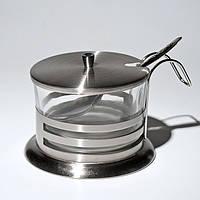 Сахарница стеклянная с ложкой (Empire Эмпаир Емпаєр) EM-9538