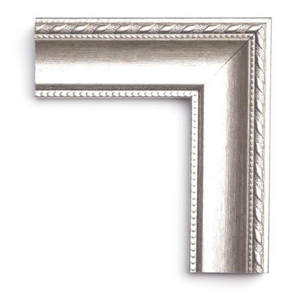 Настенное зеркало БЦ Стол Камилла прямоугольное B01 белое золото, фото 2