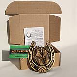 Подкова декоративная Лошади | Сувенирные подковы | Подкова подарочная, фото 3