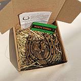 Подкова декоративная Лошади | Сувенирные подковы | Подкова подарочная, фото 2