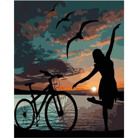 """KMVA-1837 Набор для росписи по номерам  """"Ночная велопрогулка"""", размером 40х50 см"""